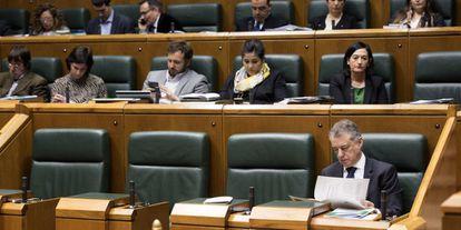 Iñigo Urkullu, en el Parlamento vasco.