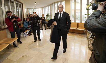 Francis Franco llega el pasado enero a los juzgados de Teruel.