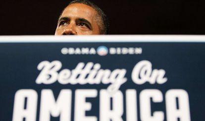 Barak Obama en uno de los discursos que pronunció en su gira por Ohio.
