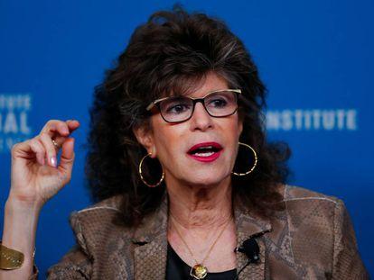 La profesora Shoshana Zuboff, durante una charla en abril en California.