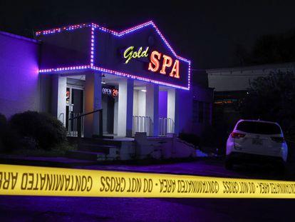 La sala de masajes Gold Spa, en Atlanta (EE UU), una de las tres localizaciones donde se produjeron los tiroteos mortales.