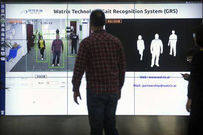 Demostración del funcionamiento de la tecnología de reconocimiento corporal.