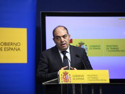 Lorenzo Amor, presidente de ATA, tras la reunión en el Ministerio de Trabajo.