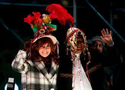 Cristina Fernández y Evo Morales el miércoles, en Buenos Aires.