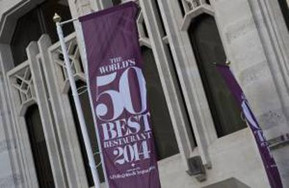 Detalle del exterior del Guildhall, donde se está llevando a cabo la edición 2014 de los Premios de los 50 Mejores Restaurantes del Mundo hoy, lunes 28 de abril de 2014, en Londres (R.Unido).