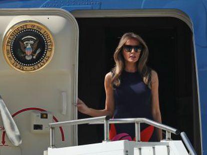 La primera dama realizó 21 trayectos entre Washington, Nueva York y Florida a bordo de aviones gubernamentales
