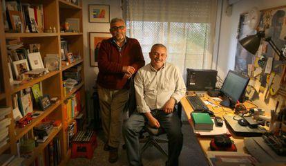 Els poetes Salvador Jàfer (esquerra) i Joan Navarro.