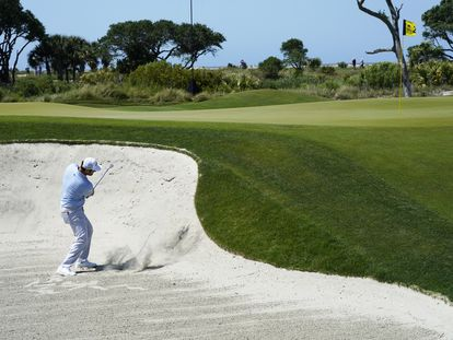 Jon Rahm, durante la segunda ronda del PGA.