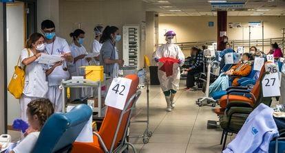 Las urgencias del Hospital de la Paz (Madrid), el 3 abril.