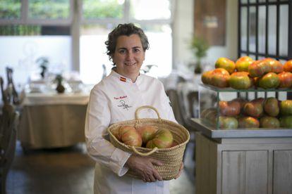 La chef Pepa Muñoz en su local  Qüenco de Pepa, esta semana.