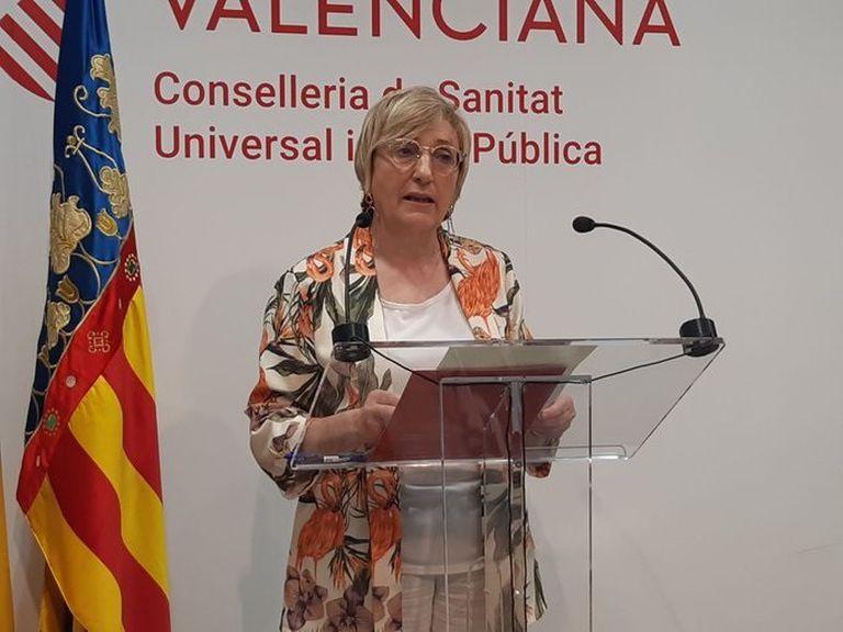Ana Barceló, en una comparecencia ante los medios.