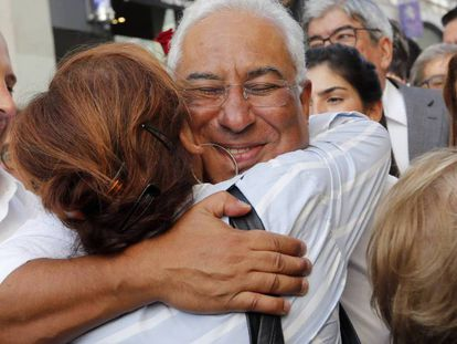 El líder socialista António Costa, en un acto electoral en Lisboa. / ARMANDO FRANCA (AP)