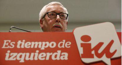 El líder de CC OO, Ignacio Fernández Toxo, este martes.