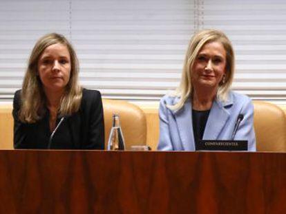 La expresidenta guarda silencio durante una hora en la comisión de investigación del caso máster.