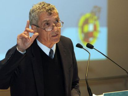 Ángel María Villar, en un acto en enero.