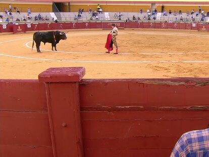 Daniel Luque, ante su primer toro.