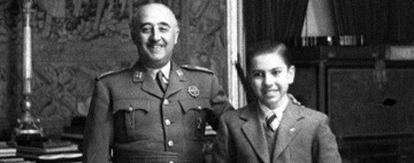 Arturo Pomar, junto al general Franco, en 1946.
