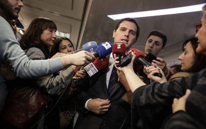 Albert Rivera, este jueves en Madrid.