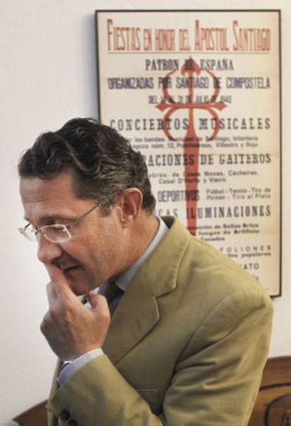 Conde Roa, el pasado julio, en el Ayuntamiento de Santiago