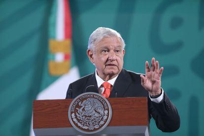 The president of Mexico, Andrés Manuel López Obrador, at a press conference this Friday.