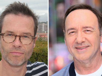 Guy Pearce, en mayo de 2014 (izquierda); y Kevin Spacey, en junio de 2017 en Londres (derecha).