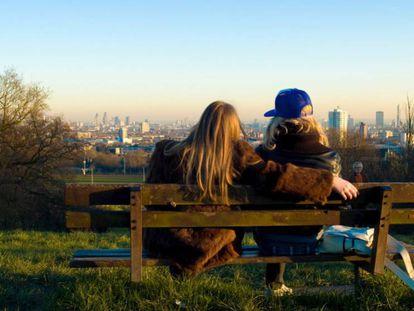Vista de Londres desde el parque Hampstead Heath.