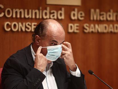 El viceconsejero de Salud Pública y Plan COVID-19 de la Comunidad de Madrid, Antonio Zapatero, este viernes.