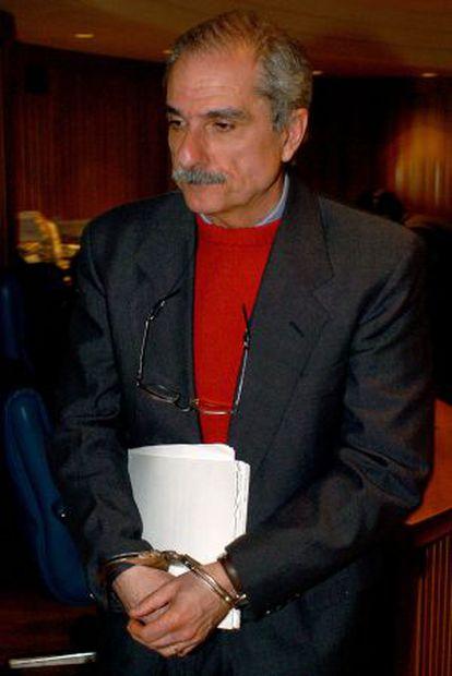 El exmilitar argentino Adolfo Scilingo durante su juicio en abril de 2005.