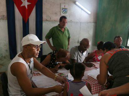 El conteo de las votaciones en La Habana.