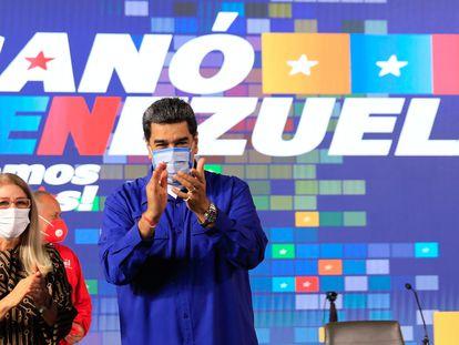 El presidente de Venezuela, Nicolás Maduro, y su esposa, Cilia Flores, el jueves en Caracas.