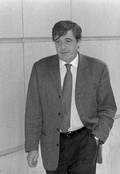 El fiscal Pedro Rubira, a la salida de la Audiencia Nacional.