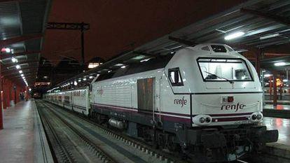 El tren nocturno que unía Madrid y Lisboa.
