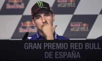 Jorge Lorenzo, en la rueda de prensa de Jerez.