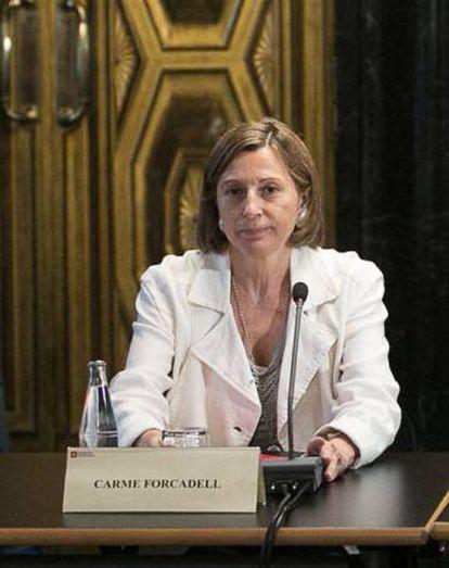 Carme Forca dell, presidenta del Parlament .