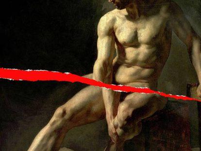 La fractura de pene afecta a 1,36 hombres de cada 100.000. En la imagen, un montaje sobre la pintura 'Hombre sentado', de Jean Baptiste Édouard Detaille.