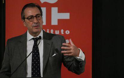 José Francisco Estévez, presidente de la fundación Enrique Ochoa, la semana pasada en el Instituto Cervantes de Nueva York.