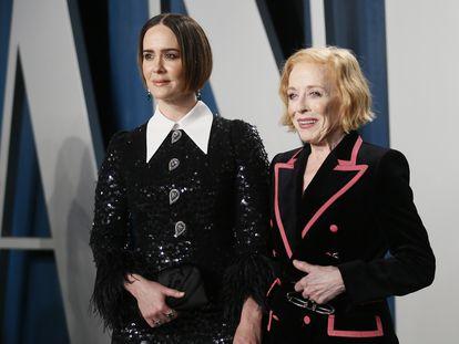 Sarah Paulson y Holland Taylor, en la fiesta de Vanity Fair tras los Oscar 2020 el pasado febrero.