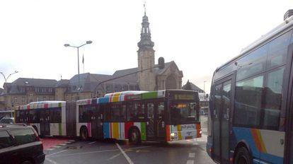 Red de autobuses en Luxemburgo, 2012