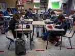 COMUNIDAD VALENCIANAVALENCIA26-2–21Gran radiografía del curso. En la imagen estudiantes de un colegio público. Mare Nostrum de Valencia, una clase de sexto de primaria.FOTO: MÒNICA TORRES/EL PAIS