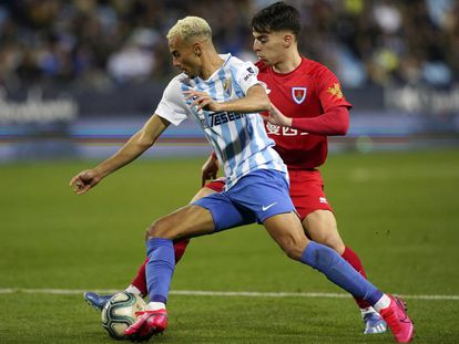 Una imagen del Málaga-Numancia de esta Liga.
