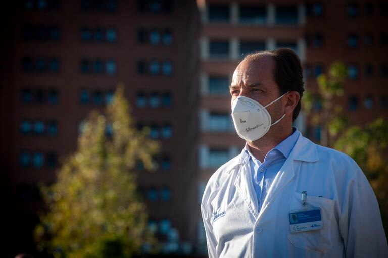 El intensivista Ricard Ferrer, este martes en Barcelona.