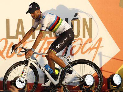 Valverde, en la presentación de la Vuelta.