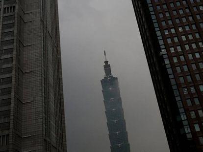 El rascacielos de Taipéi '101'.