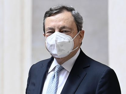 El primer ministro de Italia, Mario Draghi, el jueves en Roma.