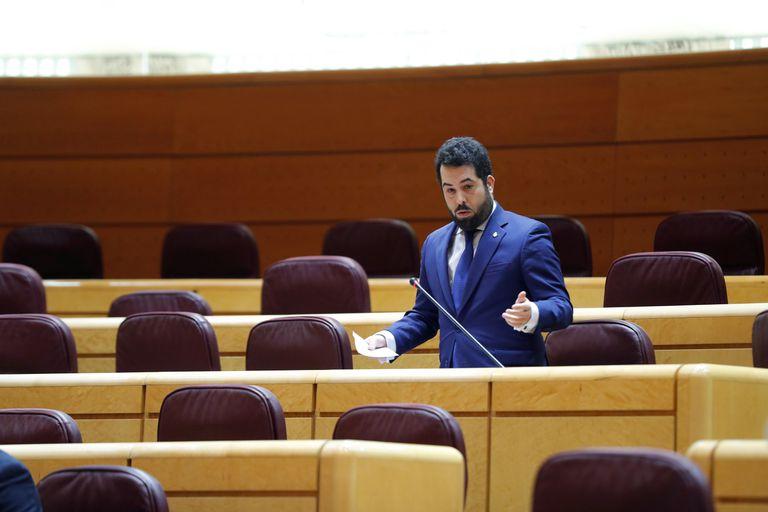 El senador de Ciudadanos Francisco José Carrillo, durante la sesión de control al Gobierno en el Senado, este martes en Madrid.