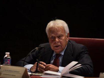El expresidente del Gobierno pide a los independentistas que paren el 1 de octubre   Después hablaremos