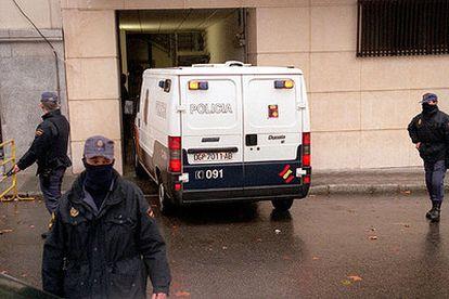 Medidas de seguridad en la Audiencia Nacional, que la célula de Achraf pretendía volar.