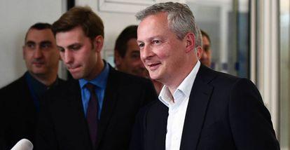 Bruno Le Maire en la sede de Los Republicanos en París, a finales de Abril.