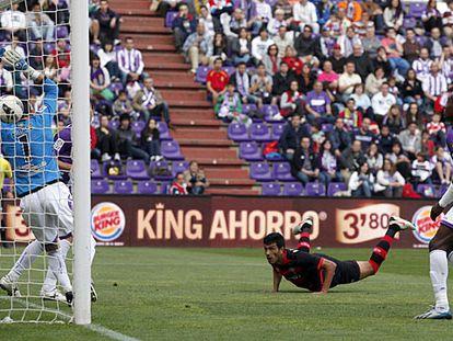 Cabral bate a Jaime, portero del Valladolid.