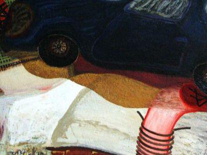 Detalle de la obra 'Alunizaje', realizada por Francisco Peinado en 2011.